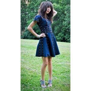 ZAC POSEN FOR TARGET Dress size Large L navy black